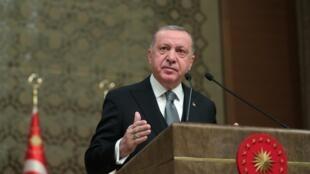 Shugaban Turkiya Recep Tayyib Erdogan.