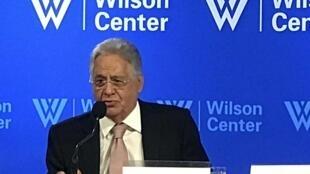 O ex-presidente brasileiro Fernando Henrique Cardoso durante palestra no Wilson Center, em Washington, em 28 de setembro de 2017.