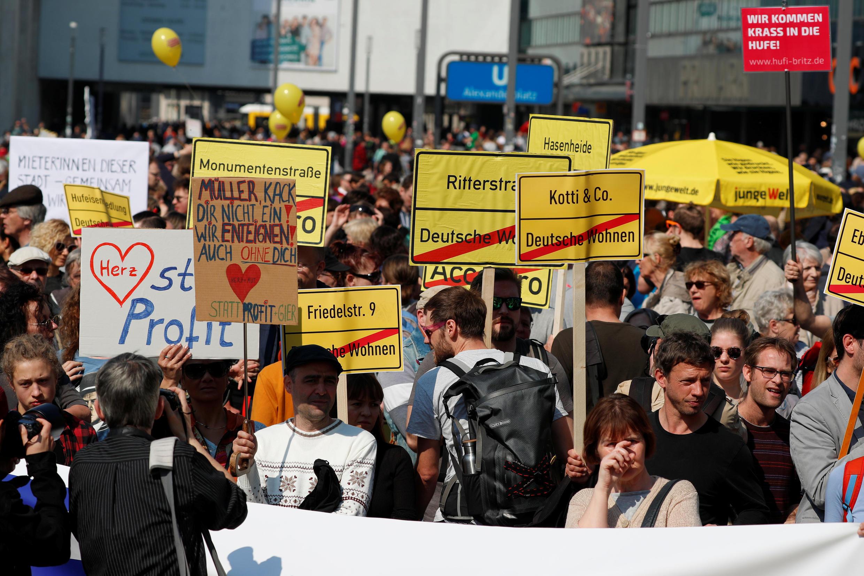 Manifestation à Berlin contre la «folie des loyers», le 6 avril 2019.