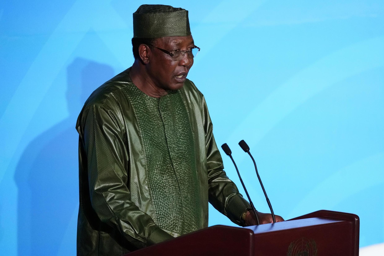 Idriss Déby, Rais wa Chad, akiongea katika mkutano wa kilele wa Umoja wa Mataifa kuhusu tabia nchi Septemba 23, 2019.