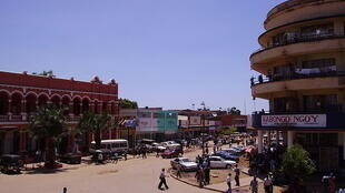Katikati mwa mji wa Lubumbashi.