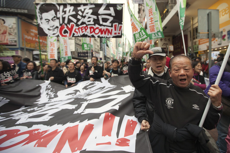 Biểu tình đòi dân chủ tại Hồng Kông, ngày 01/01/2013 (REUTERS)