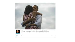 Photo publiée sur le compte Twitter de Barack Obama et retweetée plus de 620 000 fois.