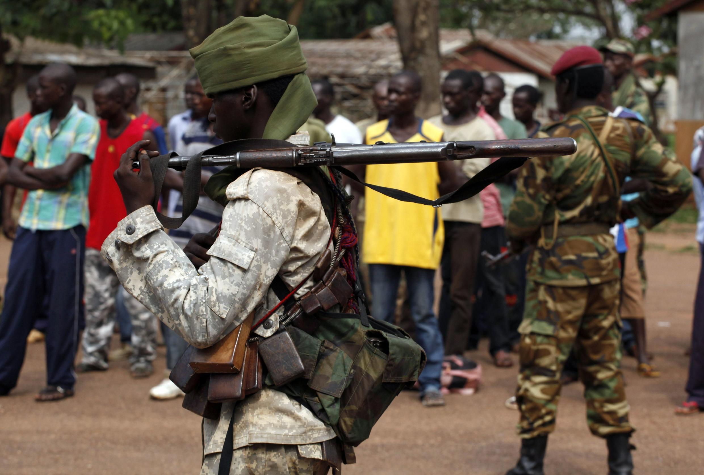 Soldat tchadien à Bangui, le 9 décembre 2013.