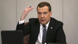 Дмитрий Медведев в Госдуме, 22 апреля 2014 г.