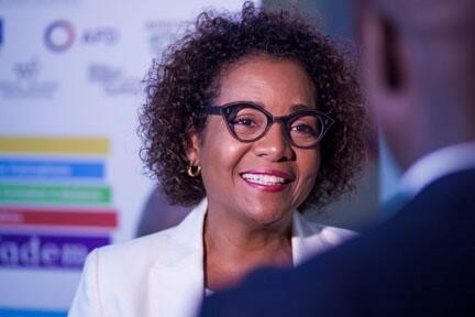 La Secrétaire générale Organisation internationale de la Francophonie (OIF) Michaëlle Jean.