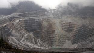 Le complexe minier de Grasberg, dans la province indonésienne de Papouasie occidentale, le 16 août 2013.