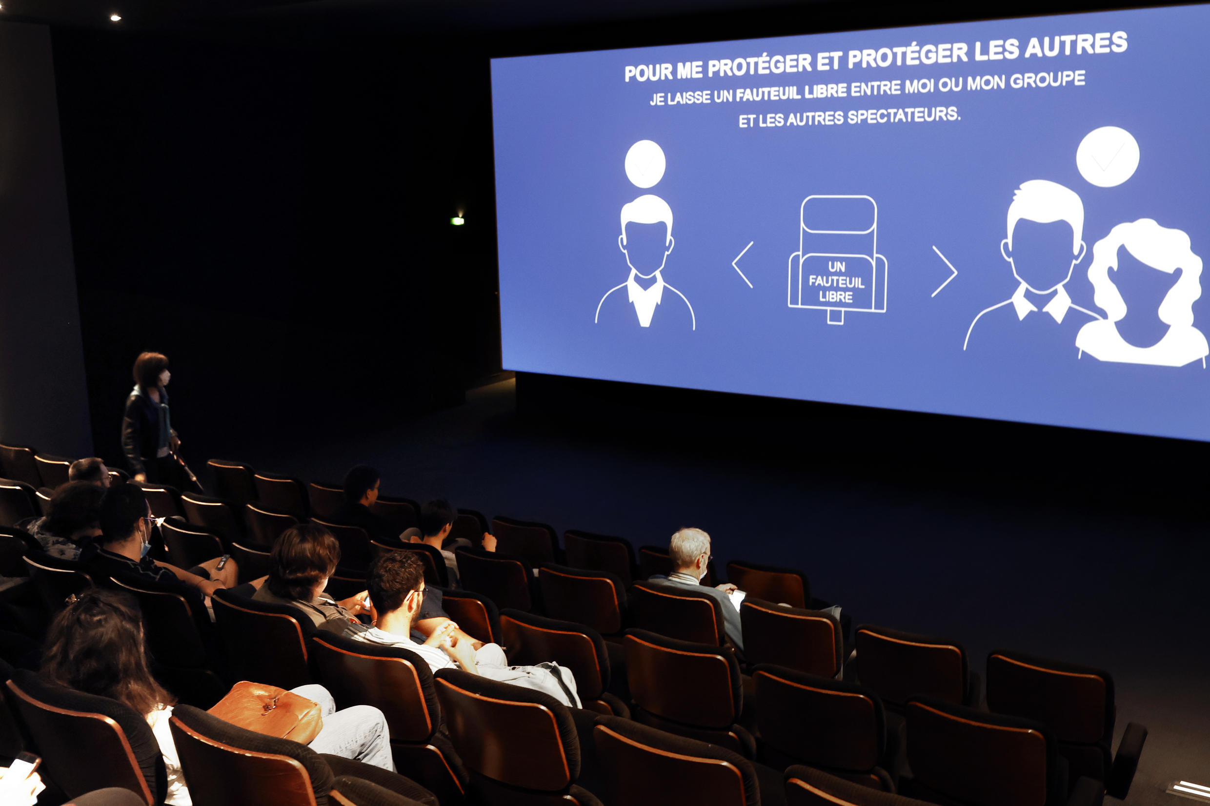 Cinemas reopened in France in the summer of 2020 with sanitary restrictions and social distancing