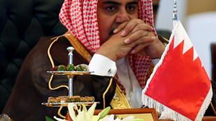 Ngoại trưởng Bahrain Khalid bin Ahmed Al Khalifa trong một cuộc họp tại Riyad, Ả Rập Xê Út, ngày 29/10/2017.