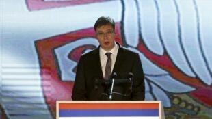 Le Premier ministre serbe Aleksandar Vučić, le 9 janvier 2015.