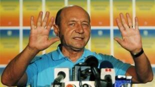 O presidente da Romênia, Traian Basescu.