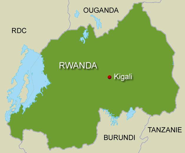 Ramani Rwanda.