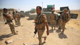 Les forces irakiennes dans Tal Afar, le 30 août 2017.