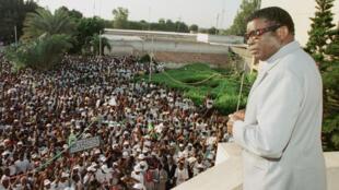 Le chef de l'État du Togo, Gnassingbé Eyadéma, le 19 juin 1998.
