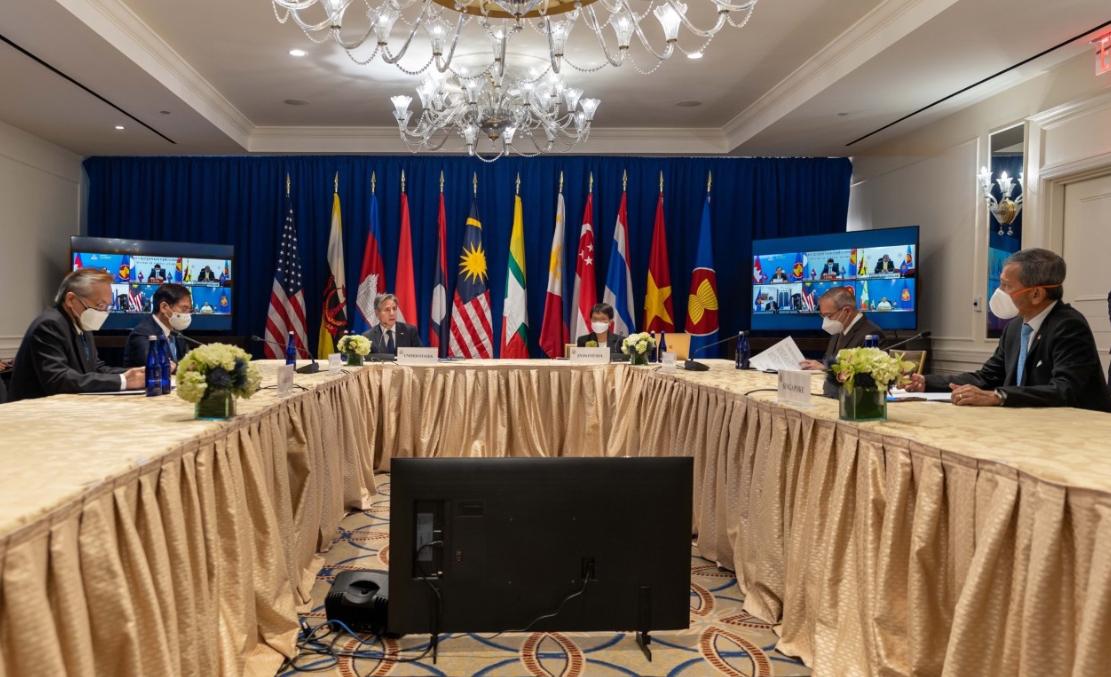 美國務卿布林肯參加東盟外長會議資料圖片