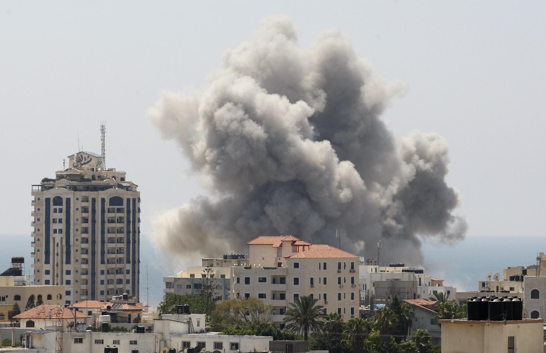 Oanh kích tại dải Gaza, ngày 27/07/2014.