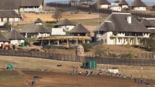 Vue de la résidence secondaire du président sud-africain Jacob Zuma à NKandla.