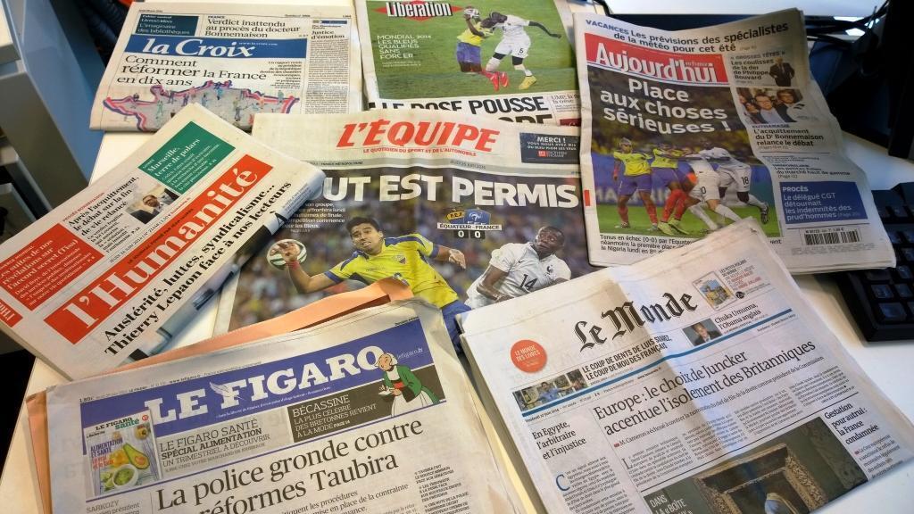 Diários franceses 26/06/2014