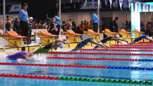 Compétition de natation à Kuala Lumpur, en août 2017.