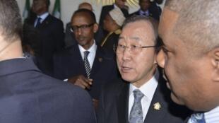 Ban Ki-moon, le secrétaire général des Nations unies, à Addis-Abeba, le 27 janvier 2013.