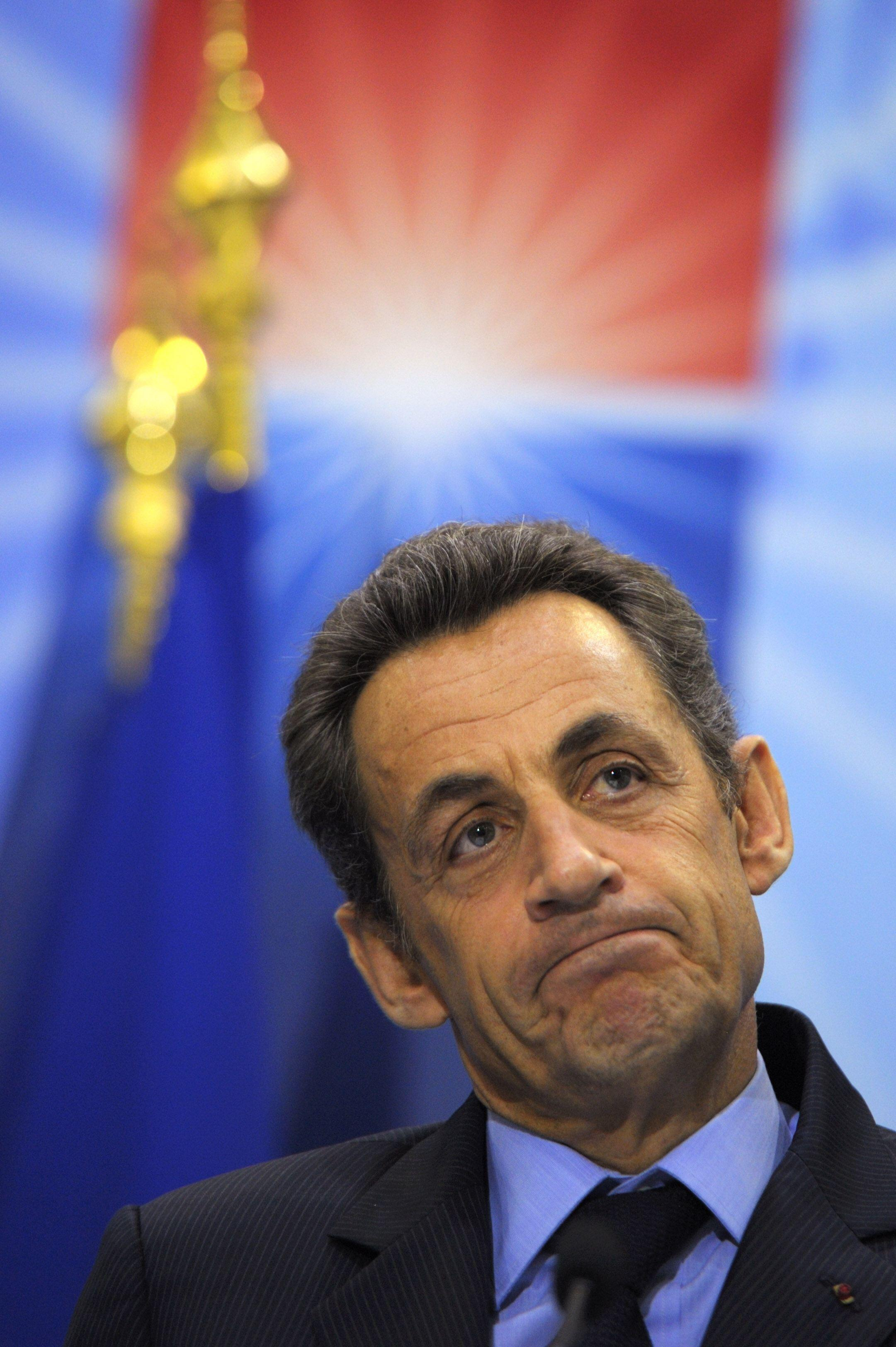 O presidente Nicolas Sarkozy.