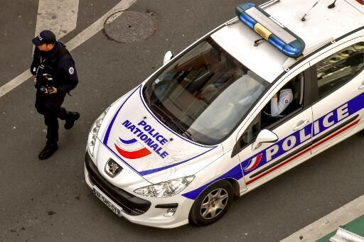 A police car patrols on April 10, 2018.