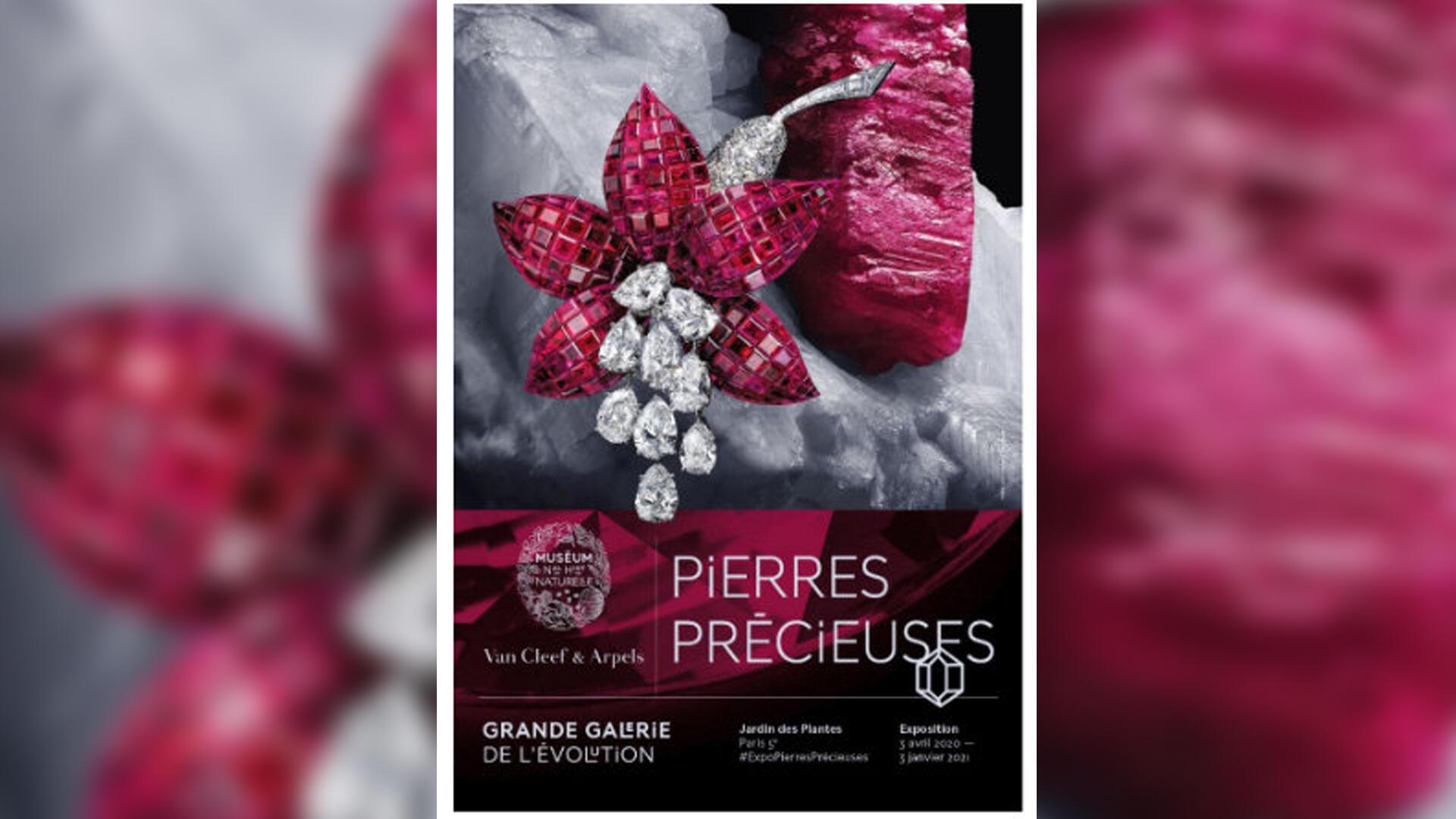"""L'exposition """"Pierres Précieuses"""", à la Grande galerie de l'évolution au Muséum national d'Histoire naturelle à Paris, jusqu'en juin 2021."""