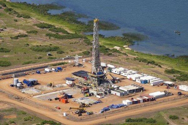 An oil rig near Lake Albert, in Uganda