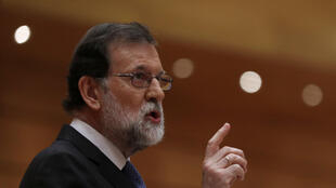 O primeiro-ministro espanhol, Mariano Rajoy, visita Barcelona neste domingo, 12 de novembro de 2017.