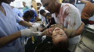 Bombardeios israelenses atingiram nesta quarta-feira uma escola administrada pela ONU na Faixa de Gaza.