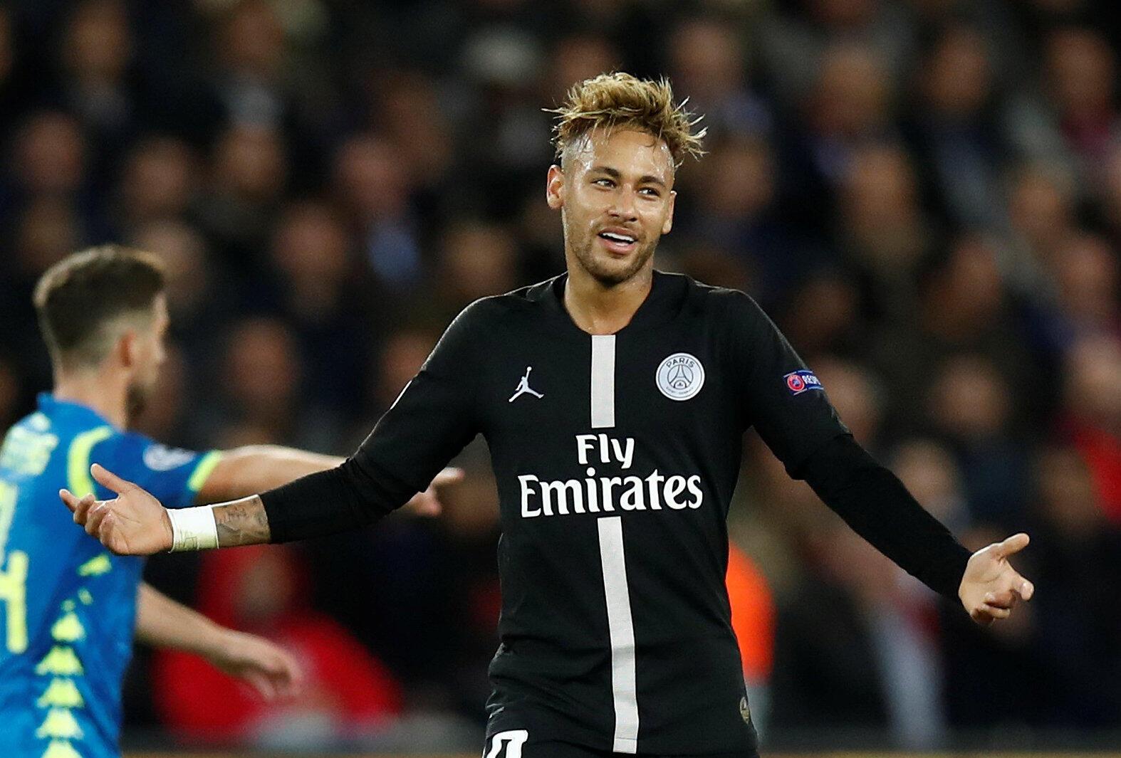 Neymar, avançado brasileiro do PSG, não marcou no empate a duas bolas frente ao Nápoles no jogo que decorreu em Paris a 24 de Outubro.