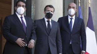 PHOTO el-Menfi Macron al-Koni - 23 mars 2021