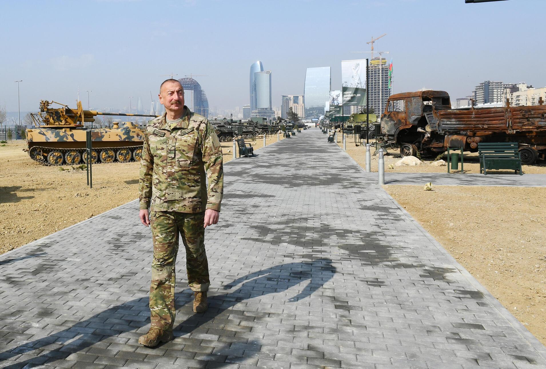 Image d'archive RFI - azerbaidjan-aliyev-parc-trophees