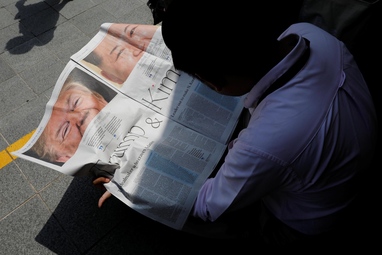 Preparativos para o encontro entre Trump, e o líder norte-coreano, Kim Jong-Un, que acontece nesta terça-feira em Singapura.