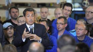 Nicolas Sarkozy em Ardennes para falar sobre emprego e salários