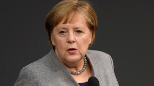 德國總理默克爾(2019年12月18日在議會)