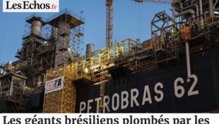 O jornal francês Les Echos desta quinta-feira (17) informa que Petrobras, Embraer e JBS estão sendo indiciadas por suas práticas ilegais.