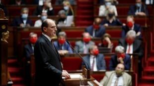 Премьер Жан Кастекс в парламенте Франции 15 июля 2020 г.