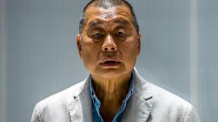 Jimmy Lai, durante una entrevista con la AFP el 16 de junio de 2020 en Hong Kong