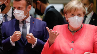 Germany's Chancellor Angela Merkel and France's President Emmanuel Macron are trying to get their European counterparts to agree on a massive 750-billion-euro stimulus programme to help boost their economies following coronavirus lockdowns