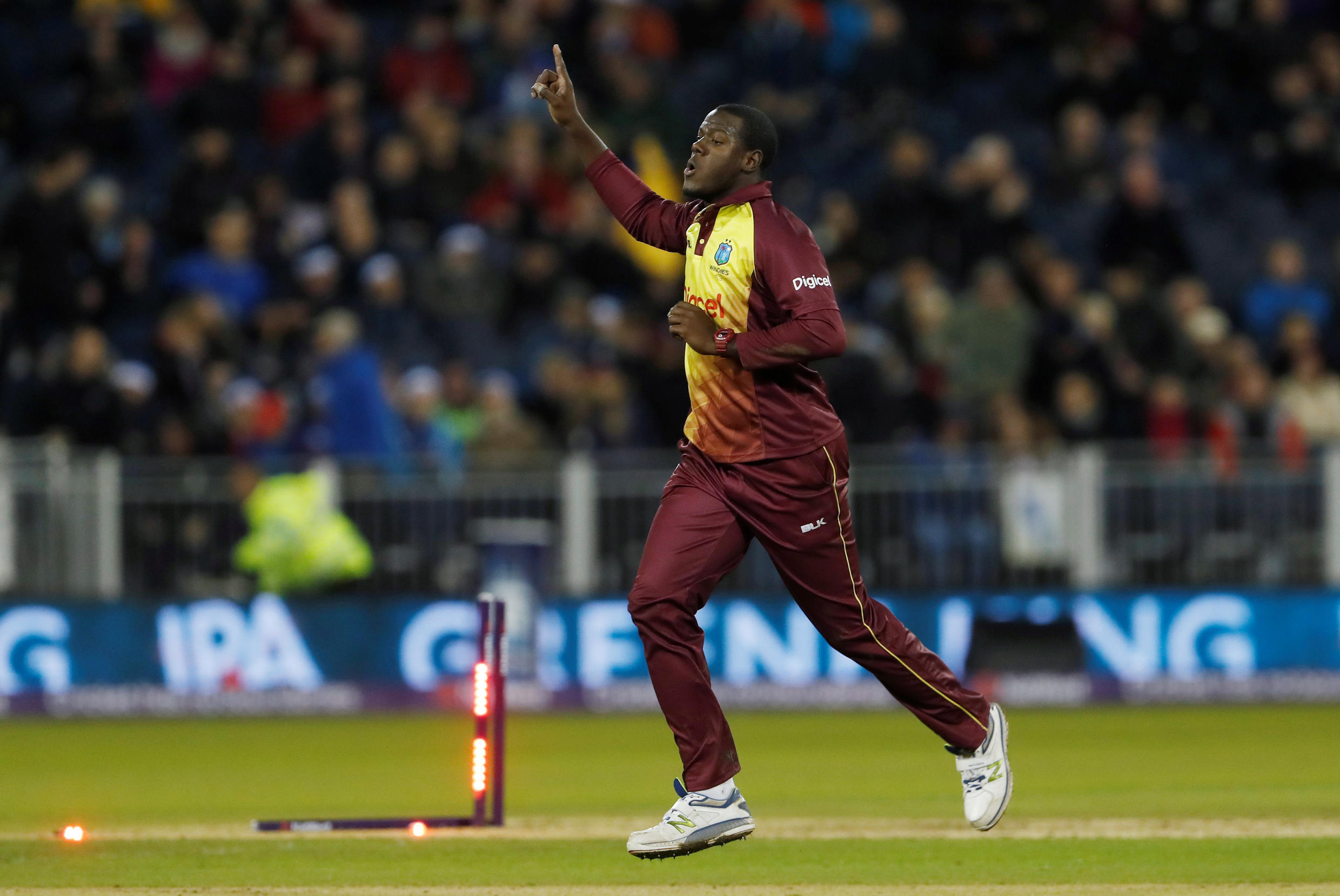 West Indies captain Carlos Braithwaite said his players feared injury in the outfield at Chester-le-Street.