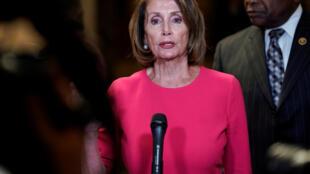 Sabuwar shugabar Majalisar wakilan Amurka Nancy Pelosi.