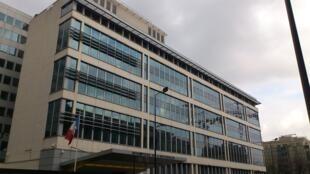 Le siège de la DGSI à Levallois-Perret dans les Hauts-de-Seine, près de Paris.