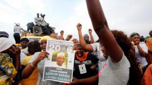 Des partisans de l'opposition en Gambie, le 29 novembre 2016.