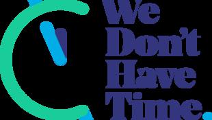 Le logo du réseau social We Don't Have Time consacré à la planète, et organisateur de la Earth Day Week.