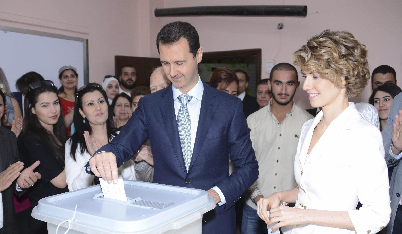 Bashar Assad na jefa kuri'arsa a zaben shugabancin kasar
