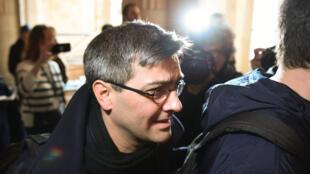 Julien Coupat, le 13 mars dernier en marge de son procès à Paris.