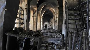 La Grande Mosquée d'Alep, photographiée fin 2012.