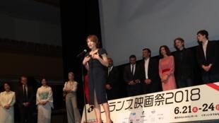 La comédienne Nathalie Baye, marraine du Festival du film français au Japon.