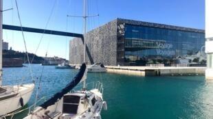 Le Mucem à Marseille au pied du fort Saint-Jean.